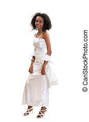 Modern Ethiopian dress - Young modern Ethiopian girl wearing...
