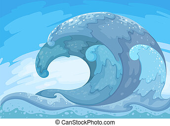 The great wave - Illustration of the great wave