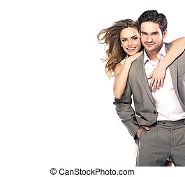 coppia, proposta, ridere, amare