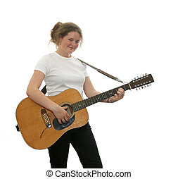 beautiful teen guitarist