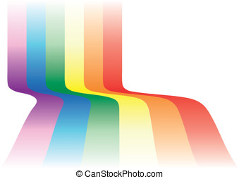 Gay background waving. Decorative element with the gay flag