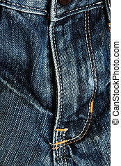 close detail of jeans