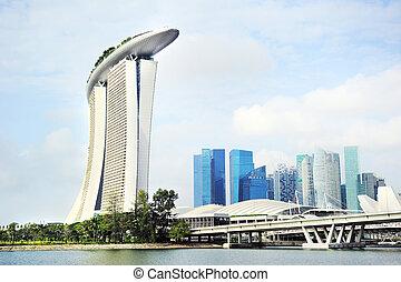Singapore skyline - Singapore panorama. Singapore has long...