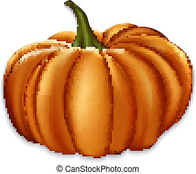 Orange pumpkin.