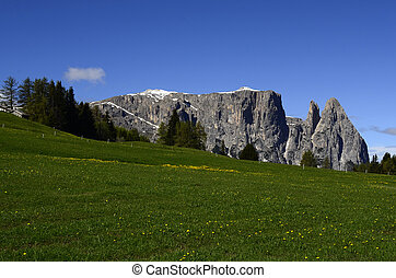 Italy, South Tyrol, Alpe di Suisi, Schlern mountain - aka...
