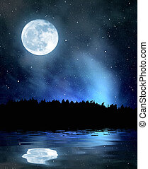 night sky with stars and moon - night sky with stars and the...