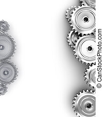 Gears background with empty space