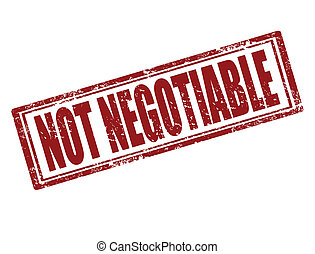 Not negotiable-stamp - Grunge rubber stamp with text Not...