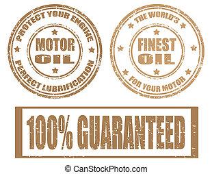Set of motor oil stamps - Set of motor oil grunge rubber...