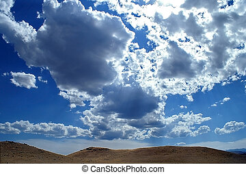 Big Sky Country - Bright bold blue sky with dramatic clouds