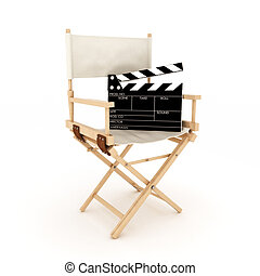 Directors chair with clapper
