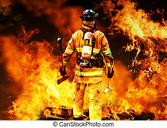 In to the fire - a Firefighter searches for possible...