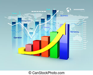 Business plan with graphs and chart