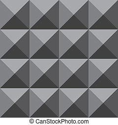 Grayscale four face pyramid trydimensional illusion wall...