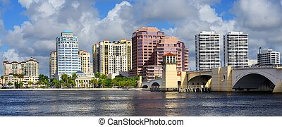 West Palm Beach Skyline - Skyline of West Palm Beach,...