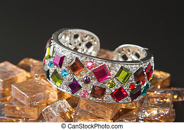 bracelet with color gems