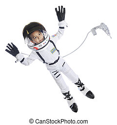 Space-Walking Kid - Full length image of an elementary...