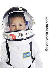 Astronaut Commander Closeup - Head and shoulders image of an...
