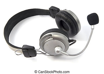 headphone - a headphone, isolated on a white background