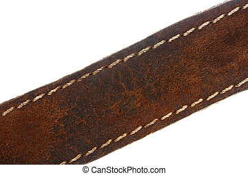 Brown leather belt - Close up of a brown leather belt...