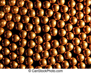 Copper balls as a background