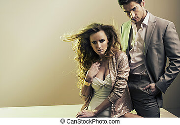 Nice photo of a serious couple - Nice photo of a serious...