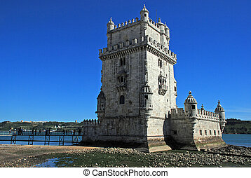 Tower of Belem, Lisbon - Tower of Belem (Torre de Belem),...