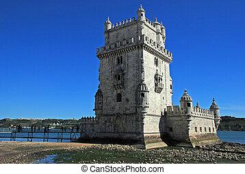 Tower of Belem, Lisbon - Tower of Belem (Torre de Belem),...