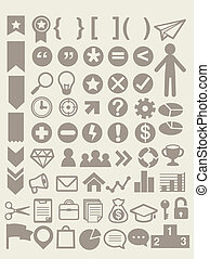 Set of adaptable elements info graphics - Vector file EPS10