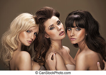 Trio of sensual young women - Trio of really sensual young...