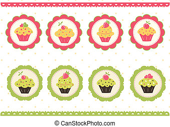 Set of cake stickers