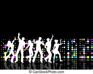 Party people - Silhouettes of people dancing