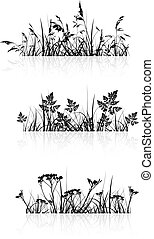 Grass Banner Silhouette Collection