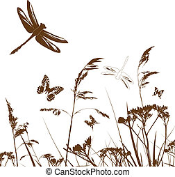 Summer Meadow Silhouette