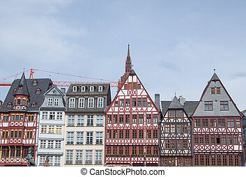 Roemerberg in Frankfurt - Roemerberg old city in Frankfurt...