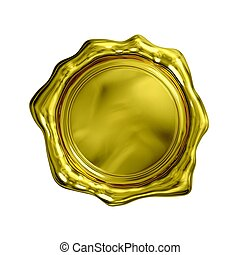 Gold Seal - Isolated (blank and white background)