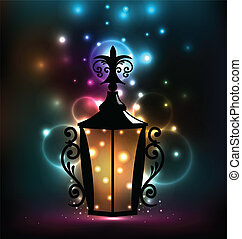 Forging lantern for Ramadan Kareem - Illustration forging...