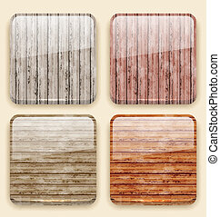 Wooden backgrounds for the app icons