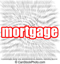 Mortgage - Hi-res original 3d-rendered computer generated...