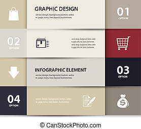 Vector paper e commerce and numbers design template . Vector...