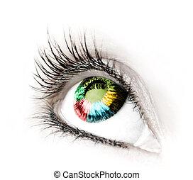 grande, grande, olho
