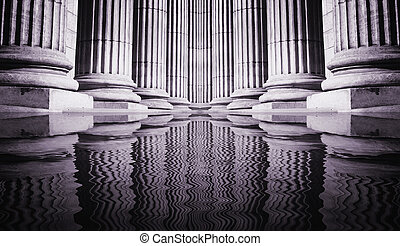 Pillar close-up - Close-up of a bright classical pillar