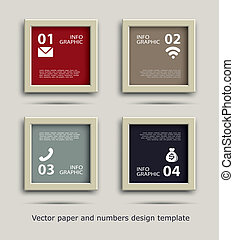 paper frame and numbers icon