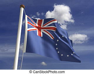 Cook Islands Flag - Cook Islands flag (with clipping path)