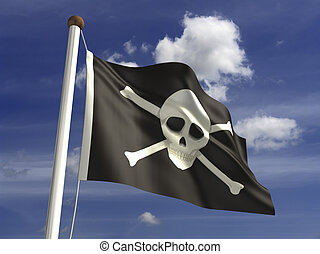 Skull Flag - Skull flag (with clipping path)