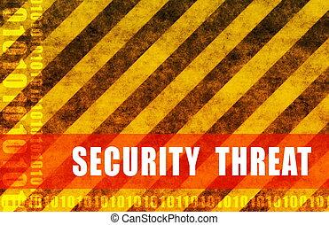 Security Threat Cyber National Warning as Abstract