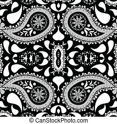 paisley background, abstract seamless texture; vector art...