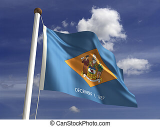 Delaware Flag - Delaware flag with clipping path