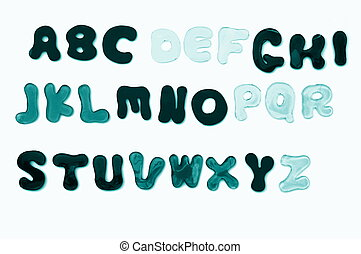 letters and numbers - alphabet from A to Z and numbers form...