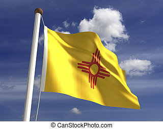 New Mexico Flag - New Mexico flag (with clipping path)
